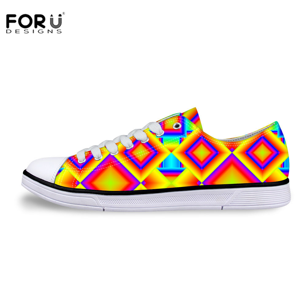 ФОТО FORUDESIGNS New Fashion Low Canvas Shoes Durable Bright Canvas Shoes for College Student Casual Breathable Shoes