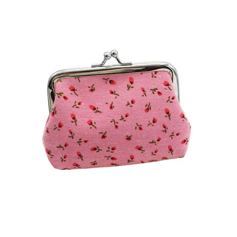 Womens Flowers Wallet Card Holder Coin Purse Clutch Handbag Ladies Cheapest Canvas Classic Retro Small Change Coin Purse Little sif womens small sequin wallet card holder coin purse clutch handbag bag agu 16