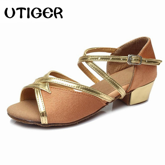 de267109c UTIGER Children Girls Women dance shoes Tango Salsa Latin Dance Shoes Low  Heel Ballroom Modern dance shoes for women WD023