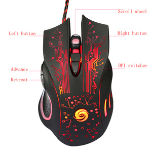 Image 4 - HXSJ Mechanical Game Mouse  5600 DPI 6 Button Colorful LED Backlit Light USB Wired Optical Gaming Mouse