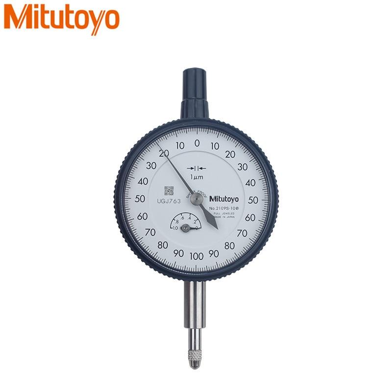 Mitutoyo Quadrante Indicatore 0-1*0.001mm Comparatore 2019S-10 Dial Indicator Test strumento di misura Metrico Misura Utensile