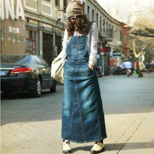 9f6d2daad8b Add to Wish List. New Women s casual Bohemian loose denim blue overalls  Harness dresses Female plus size Vintage A line