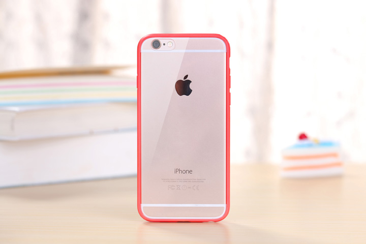 100pcs/lot Free shipping Rainbow candy colour Transparent TPU+Acrylic housing skin cover case for iphone 5 6 7 8 X 6 7 8 plus
