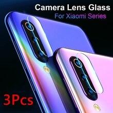 3Pcs Glass for Xiaomi Mi CC9 Protective Glass on Xiaomi Mi CC9e Back Camera Lens Soft Tempered Camera Glass for Xiaomi Mi CC 9 e
