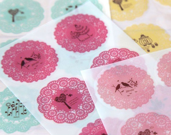 1pack lot Sweet Lace Waterproof PVC Colorful Stickers DIY Multifunction Notebook Hand Account Gift Package Decoration Label in Stickers from Home Garden