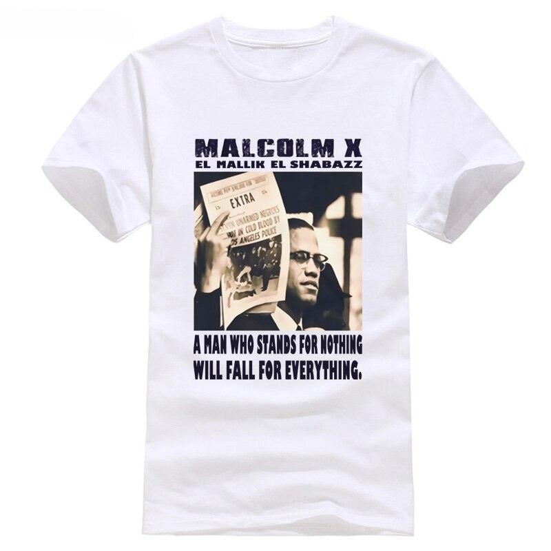 2018 New Summer Men Hot Sale Fashion Malcolm X t shirt, Black history, Africa, Black Pan MEN WOMEN T-SHIRTS S-5XL