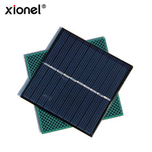 Xionel High Quality Epoxy Small Solar Panel 0.8W 5V 160mA Mini Solar Cell Module DIY Polycrystalline Solar Panel Charger 80*80MM