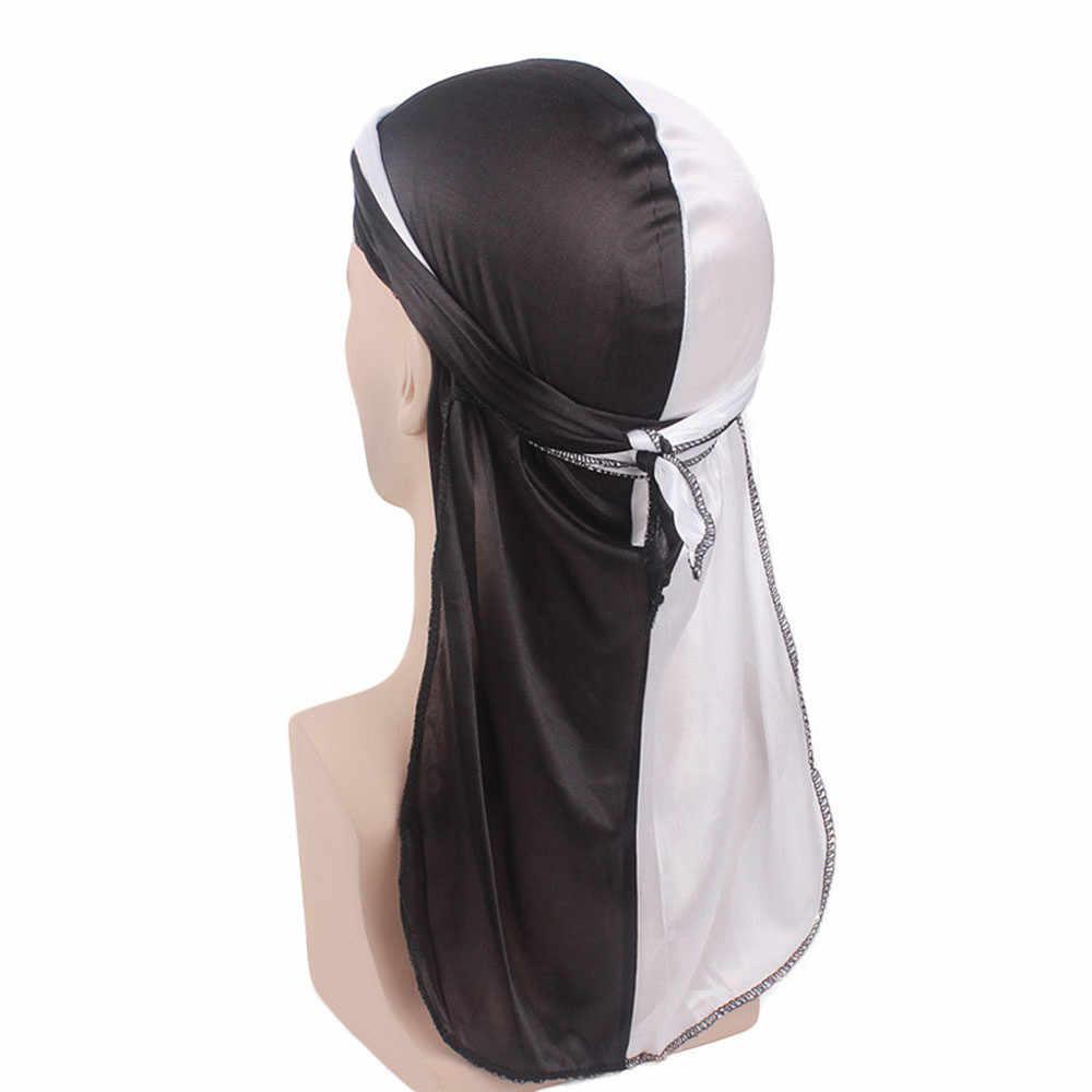 Тюрбан Для женщин повязка искусственный шелк Рак химиотерапия волос шапка берет банданы длинный хвост платок Обёрточная бумага Головные уборы пират Кепки PJ0823