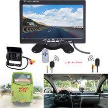 """Водонепроницаемый 12 В Автомобиля ИК Заднего Вида Wireless Backup Camera Kit + 7 """"420 ТВ lineTFT ЖК-Монитор для Автомобиля/Ван"""