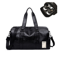 Men S PU Leather Gym Bag Male Big Sports Bag For Fitness Men Women Handbags Training