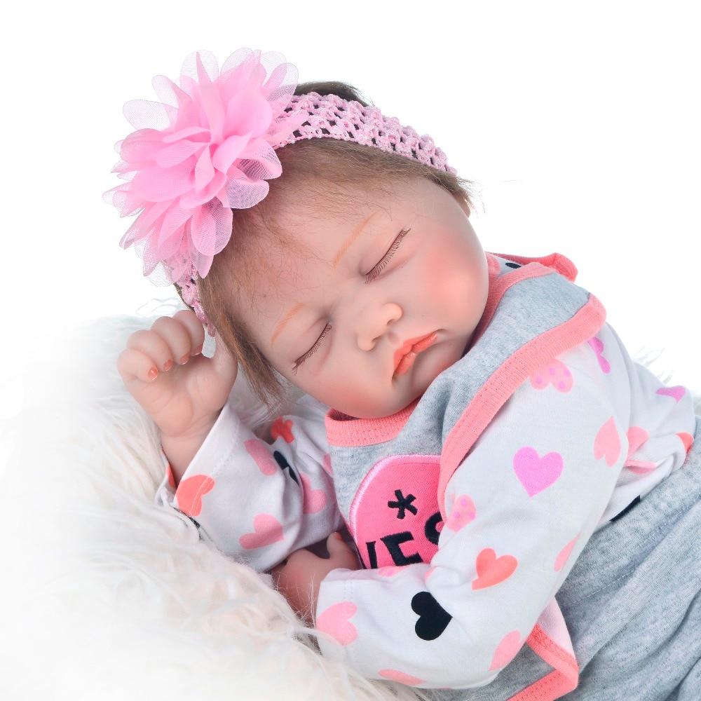 55cm Silicone Reborn Sleeping Baby Doll toys Kids Playmate Gift for Girls   Bebe Reborn Toys npk doll55cm Silicone Reborn Sleeping Baby Doll toys Kids Playmate Gift for Girls   Bebe Reborn Toys npk doll