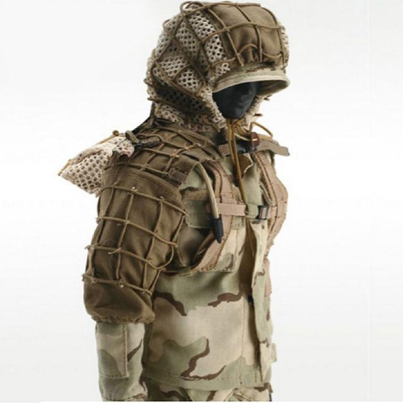 CS Wargame Sniper Camouflage Combattimento Tattico Ghillie Suit Prodotti di base Outdoor Tiro Caccia FAI DA TE Ghillie Giacca Set Con Lane e Filati