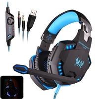 EACH G2100 Vibration Pro Gaming Luminous Headphone Studio Luminous Headset Earphone With Mic Stereo LED Light