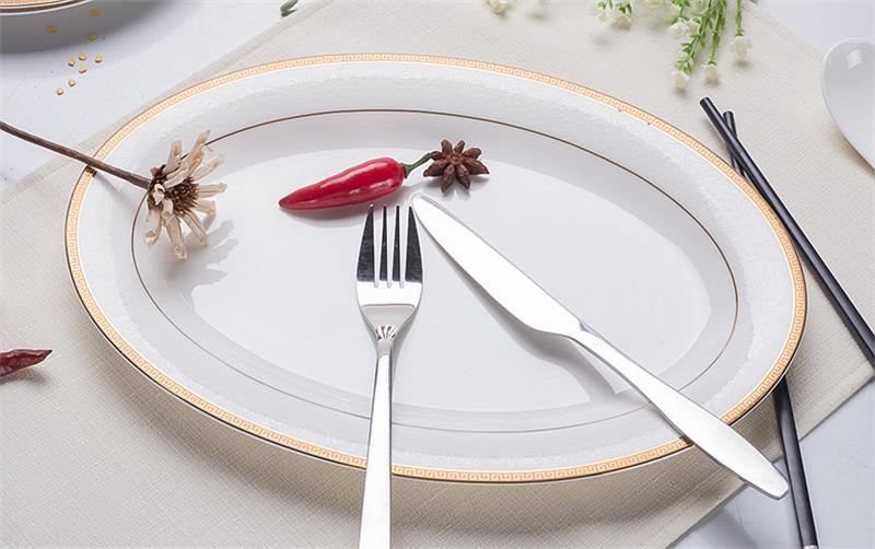 US $4 5 50% OFF|12 inch, fine bone china decorative plate, gold band  designed, dinner charger plates, porcelain dinnerware china, microwave  safe-in