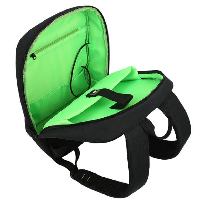 BAIBU énergie solaire hommes sac à dos USB charge 15.6 sacs à dos pour ordinateur portable hommes femmes Anti vol sac de voyage bande lumineuse sacs d'école - 5