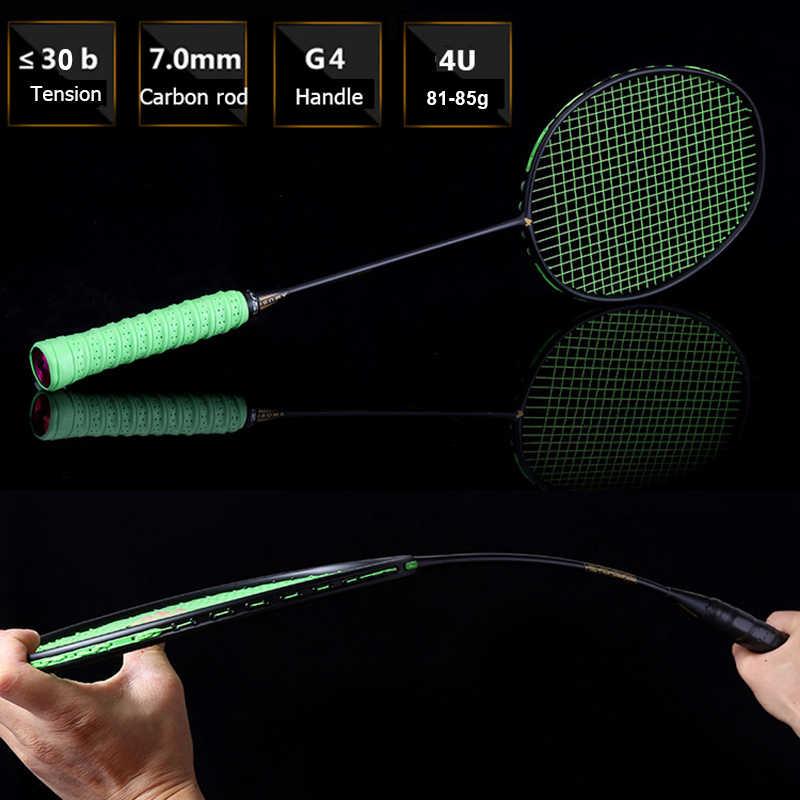 LOKI 4U Offensive Carbon Badminton Racket Super Light Training Badminton Racquet Good Damping 22-30 LBS with Bag