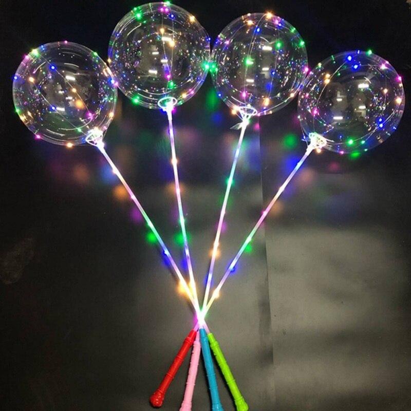 מסיבת פלאש בהיר בלוני יד כף גל כדור תוספות בובו בלון שוק לילה אורות LED ציוד חגיגי מפלגה
