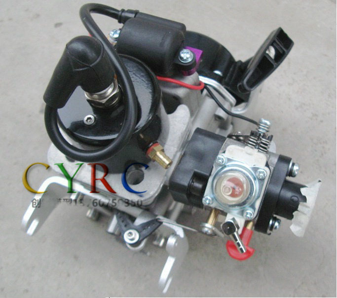 China Zenoah 26CC Pull Start Gasoline Engine QJ without Clutch for RC Boat recoil starter assembly for zenoah gw26i g260 26cc rc boat g290 g300 g320 pu pum puh pull starter assy komatsu part
