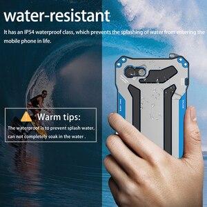 Image 3 - R JUST Gundam Armor Aluminum Metal Cover Case for iPhone 5S SE 6 6s 8 plus 7 8 7Plus X XS Life Waterproof shockproof Phone Cases