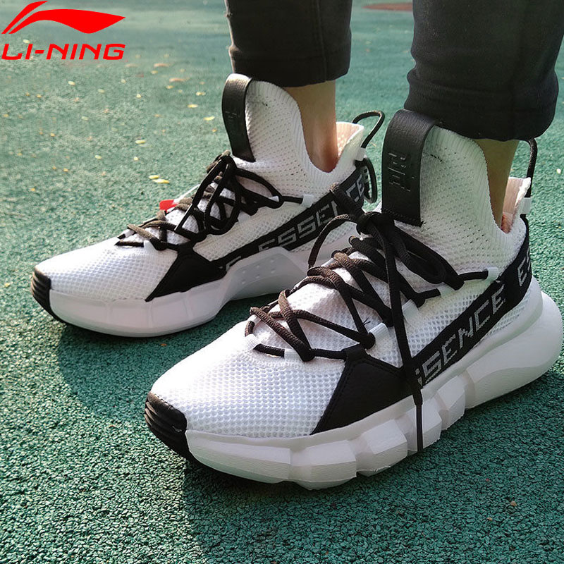 Li Ning Men ESSENCE LACE UP Basketball Leisure Shoes Breathable Mono Yarn Meduim Cut LiNing Sport