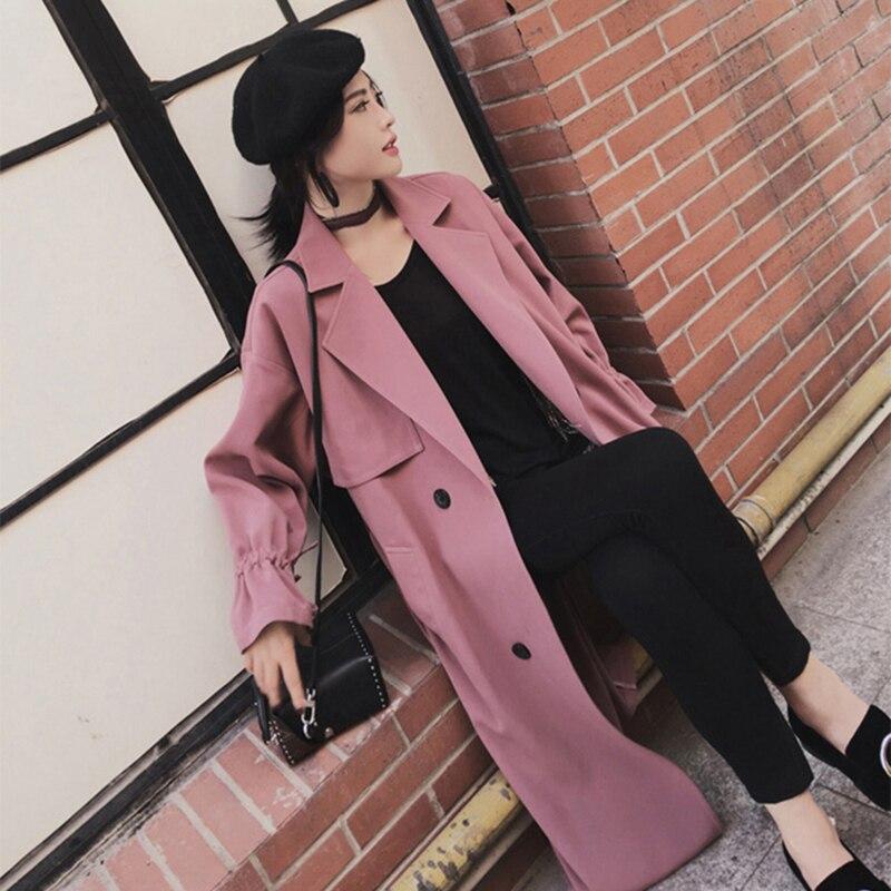 Longues Coupe khaki Printemps Tempérament Powder Veste Mode Moyen Bean 2019 De Nouveau Couleur Nuw119 Automne vent Solide Femmes XBqpOS