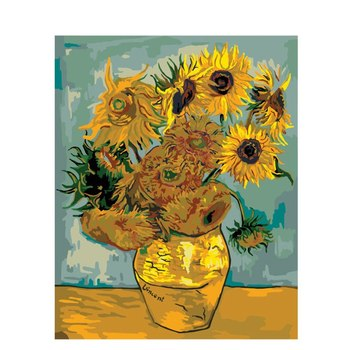sunflower Van Gogh Flower DIY Digital Painting By Numbers Modern Wall Art Canvas Painting Gift for children Home Decor 40x50cm