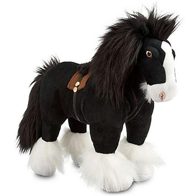 Princess Brave Merida Angus Black Horse Plush Toys Stuffed Animals