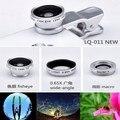 3 em 1 Magnetic fish eye macro 0.65x lente grande angular lentes de telefonia móvel ajuste de câmera olho de peixe clipe para o Iphone 6 6 além disso Samsung S6