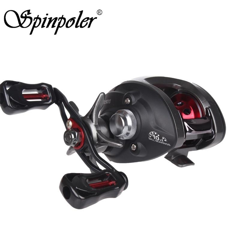 Spinpoler Baitcasting Fishing Reel 11BB 6 3 1 190g Casting Reel Baitcaster Left Right Hand For