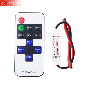 Led Controller 11key wireless DC5-24V mini dimmer  RF remote control for single color led strip 5050 3528 high quality Q
