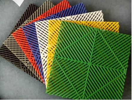 Square Car Washing Used Car Beauty 4S Shop Plastic Splicing Grille Car Wash Floor Drain Grid Mat