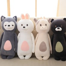 Kawaii animal plush dolls kids stuffed toys for children soft comfort sleeping pillow Cows/rabbit/fox/teddy bear