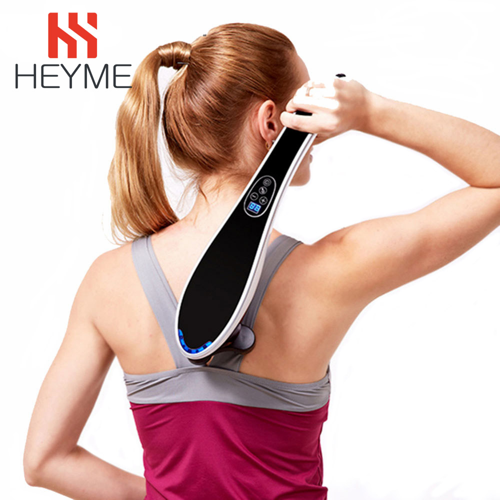 HEYME Body Massager Dolphin Electric Cervical Vertebra Massage Device Beauty Health Care Chinese Massage Stick Relax