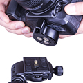 Liberação rápida de Um câmera baseplate para tripé bola cabeça quick release baseplate DSLR jib slider câmera estabilizador