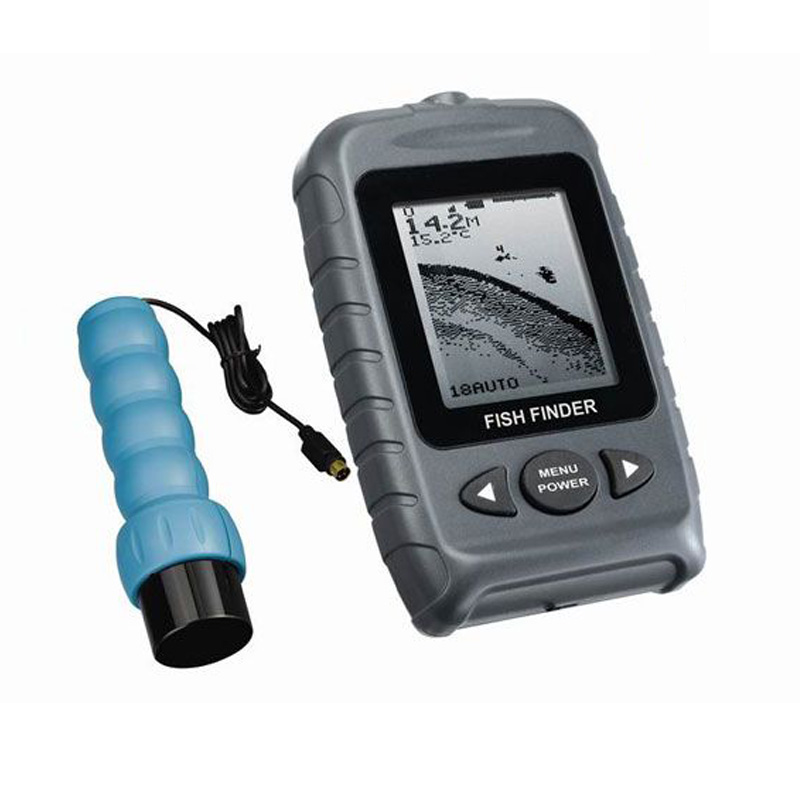 Fstn lcd 2 levels portable handheld sonar fish finder free for Best ice fishing sonar