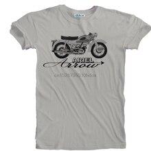 2019 nuevos hombres Retro Vintage Ariel flecha motocicleta motorista detalle impreso camiseta tallas S a 5XL camiseta