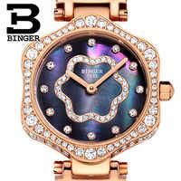 2018 Switzerland BINGER Women Watches Luxury Brand Quartz Waterproof Watch Woman Sapphire Wristwatches relogio feminino B1150-2