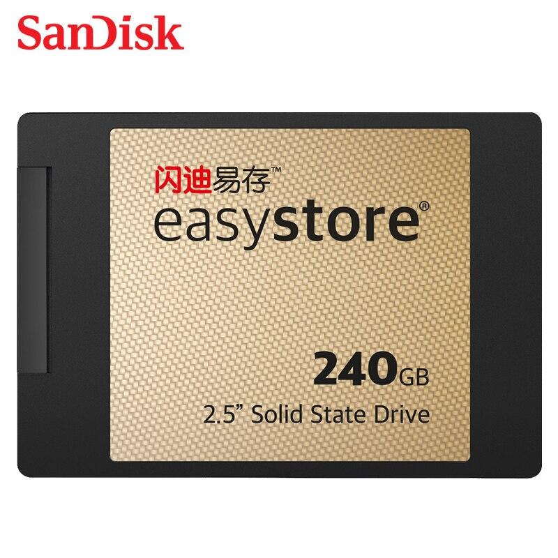 Sandisk SSD PLUS 120 GB 240 GB 480 GB disque dur à semi-conducteurs interne SATA3 2.5 100% pour ordinateur portable ordinateur de bureau livraison gratuite cadeau