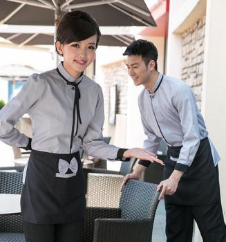 Mujeres Restaurante Camarero uniforme Hotel chef chaqueta restaurante de comida rápida TRABAJO ROPA cafetería camarera uniforme 89