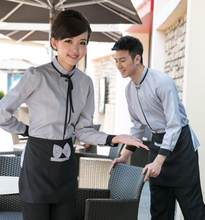 Women Restaurant Waiter Uniform Hotel Chef Jacket Shirt Fast Food Restaurant Work Wear Clothing Coffee Shop Waitress Uniform 89(China)