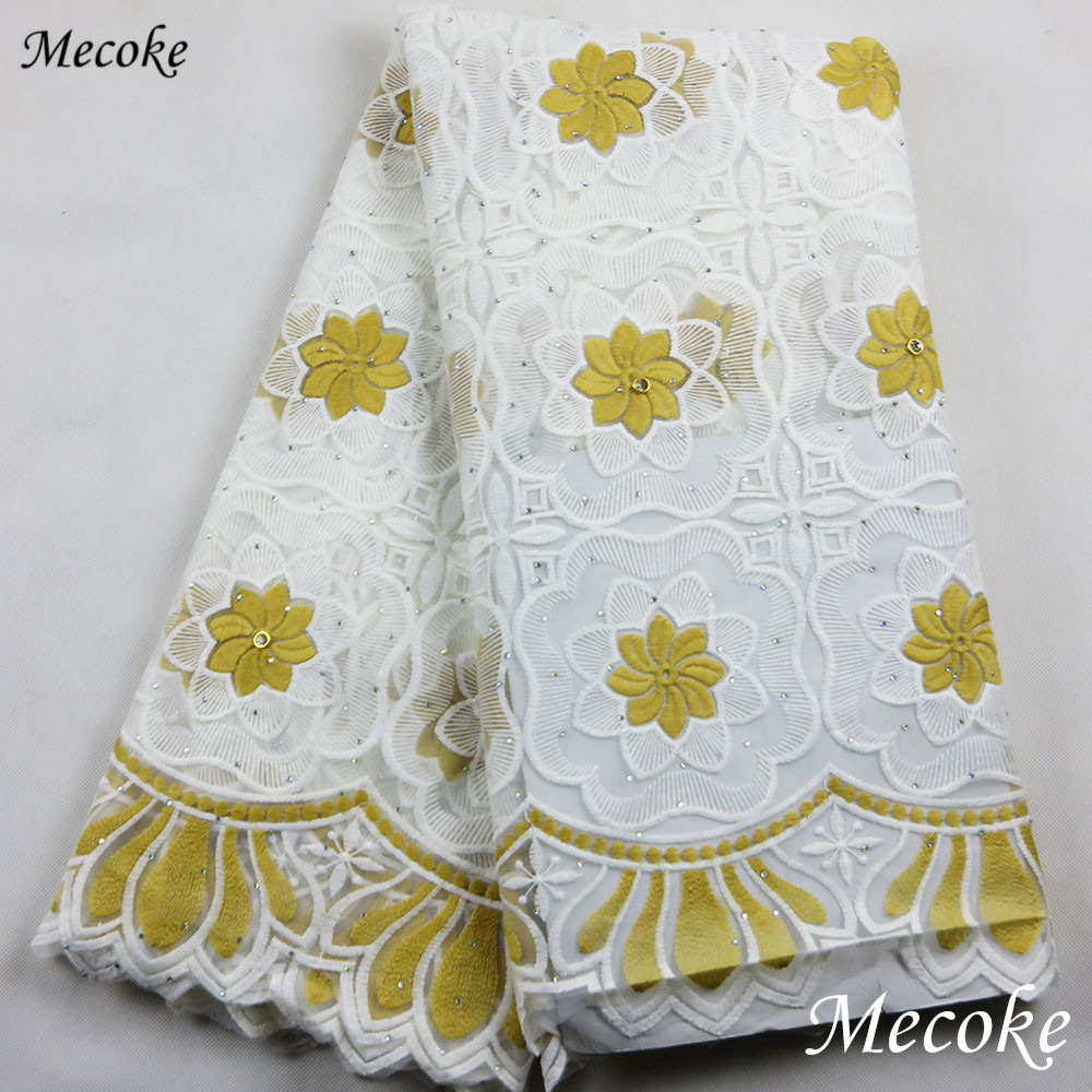 Mecoke African Lace Fabric 2018 Embroidered
