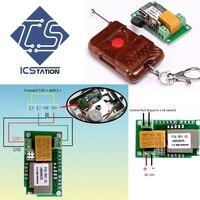 12 V 1-Channel 1-Bit Wifi Anahtarı Modülü + 433 MHz Uzaktan Kumanda Hassas Inching Öz-Kilidi Kablosuz Modülü Kurulu