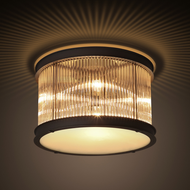 Il trasporto libero di alta qualità dell\'annata incasso plafoniera camera  da letto soggiorno apparecchio di illuminazione con LED buls 110 v 220 v in  ...
