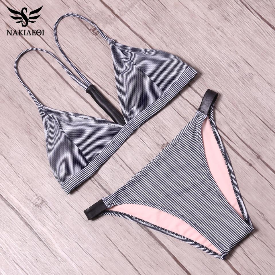 NAKIAEOI 2018 Sexy Brazilian Bikini Women Swimsuit Push Up Swimwear Female Mini Micro Thong Beach Bathing Suit Swim Wear Biquini 4