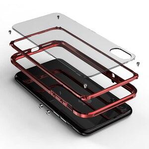 Image 2 - Cadre en métal pour iPhone 11 Pro Max étui Silm clair en plastique dur couverture darmure arrière pour iPhone XS Max XR accessoires Ultra minces