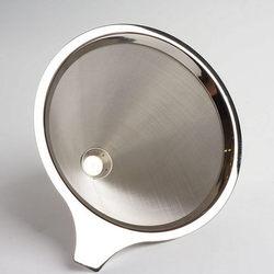Filtr do kawy ze stali nierdzewnej dzbanek stalowy do kawy z filtr papierowy filtr filtr do przelewowego zaparzania kawy lejek obsługa jest prosta i wygodna