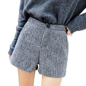 eb6dab047e Otoño de lana de las mujeres pantalones de invierno de 2018 de cintura alta