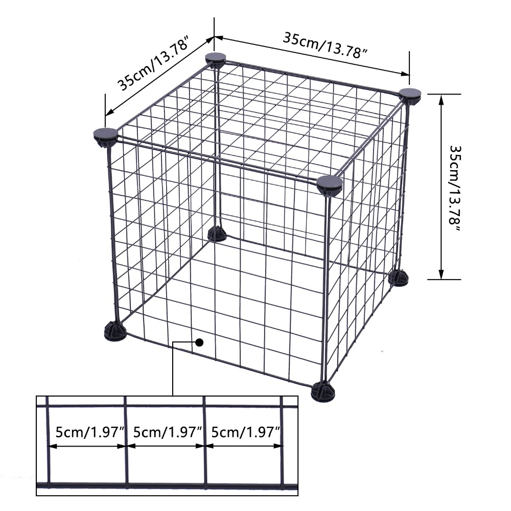 Foldable Pet Iron Fence Gate Size Guide