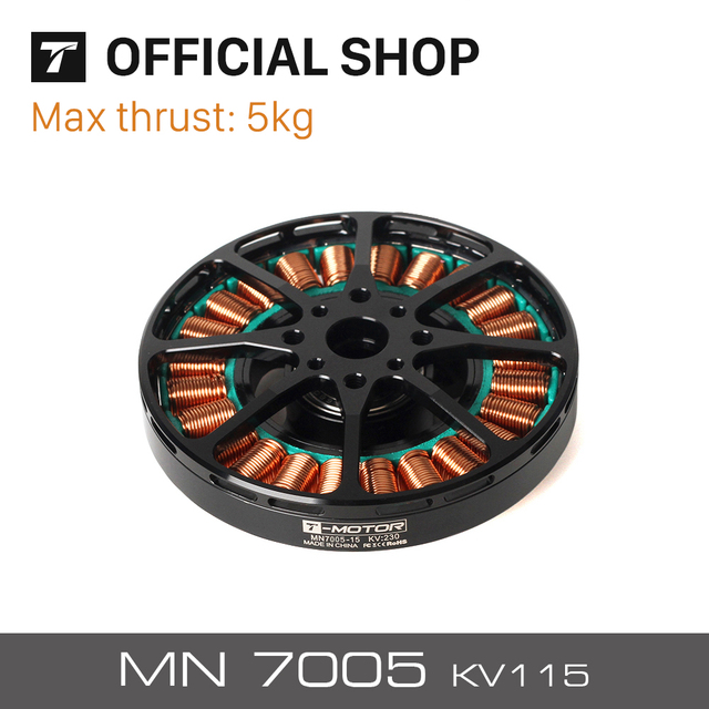 US $197 99 10% OFF| T motor Newest Antigravity MN7005 KV115 Light Efficient  Energy saving Motor For Aircraft UAV RC Drone-in Parts & Accessories from