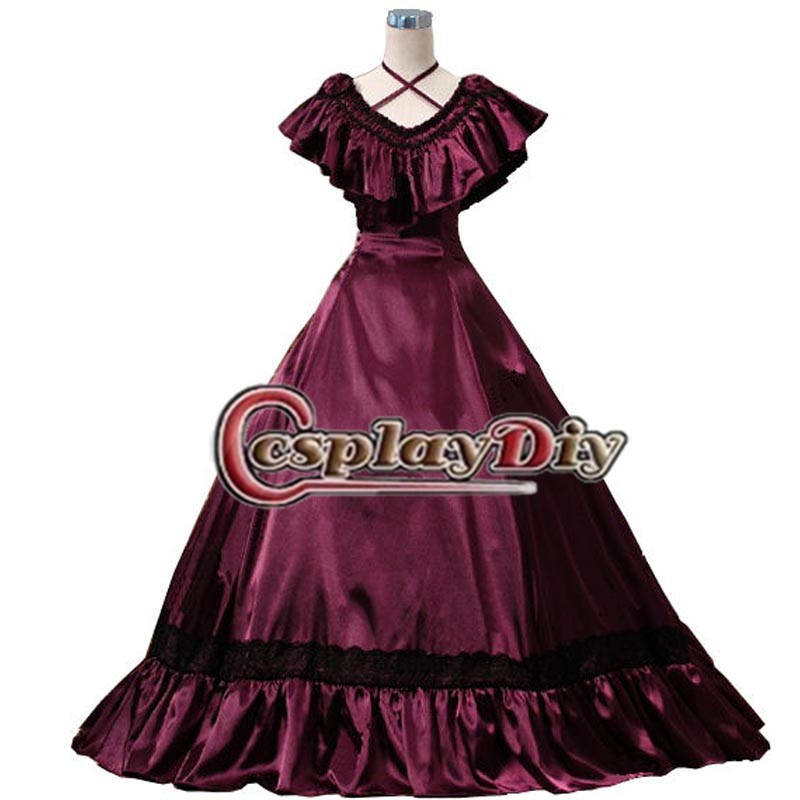 Custom Made Classical Women s Dress From Renaissance Costumes Wine Red Renaissance Dress Medieval Cosplay for